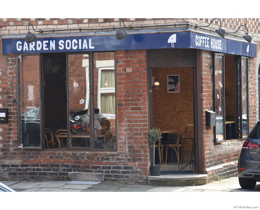 ... Garden Social, which is halfway down on the left, on the corner of Charlotte Street.