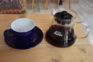 I, however, decided to have the filter option, a Kalita Wave pour-over...