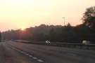 Sunrise above the A3: this must be one of those morning things I hear so much about.