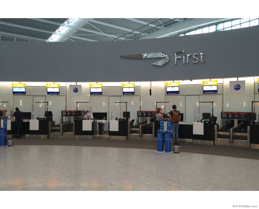 This has dedicated check-in desks (and no queues) as well as its own dedicated...