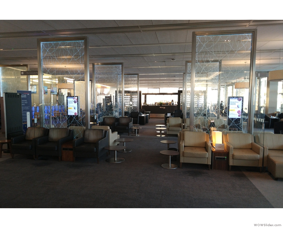... of the First Class lounge. This looked very familiar at first sight, with its familiar views...