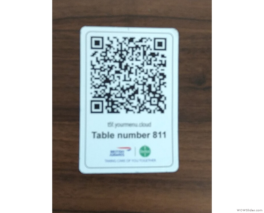 ... where you scan a QR Code on the table, which takes you to an on-line menu.
