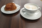 ... my latte and pan au chocolate arrived. I barely had time to photograph them...