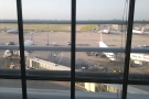 ... out over the gates at the south end of Terminal 5.