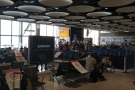 And here we are at Gate A7, where, as usual, there's never enough seating.