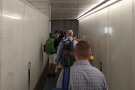 Although I was the third person to board, there was still a queue on the airbridge!