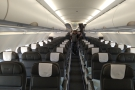 Normally, I'm up here at the front in Club Europe (business class), but today I'm...