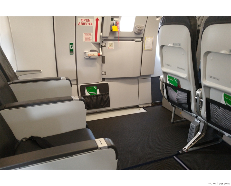 ... and here's the corresponding one across the aisle. Look at all that leg room!
