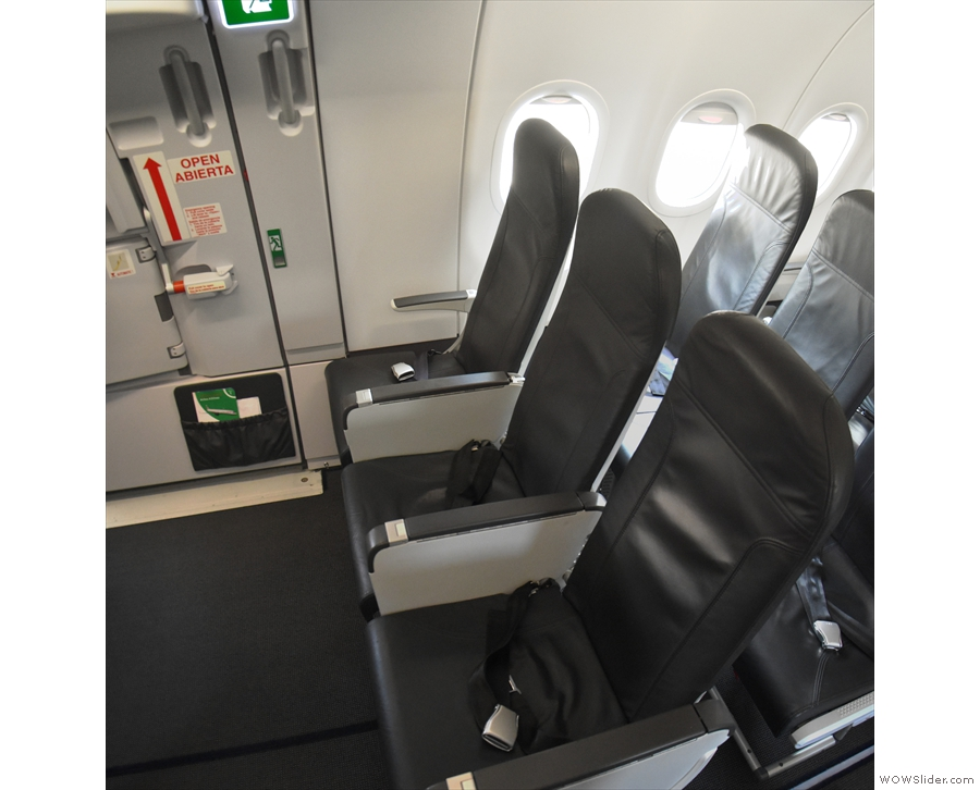 I had got myself a seat in the emergency exit row at the back of the wing.