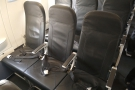 For comparison, these are the seats in a standard Euro Traveller (economy) row.
