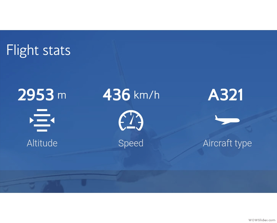 Well, that and some basic stats. Already at nearly 3,000m just five minutes after takeoff!
