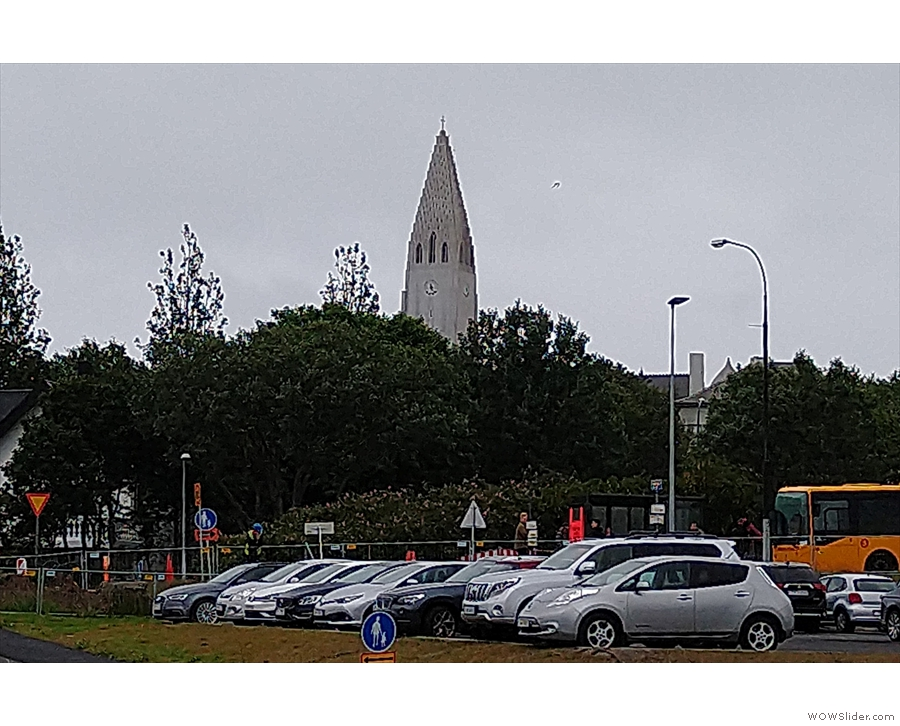 ... dropping us at the main bus station, under the gaze of the spire of Hallgrimskirkja.