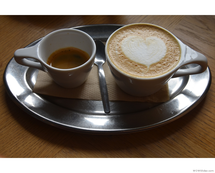 My Eitt Sett, perhaps better known as a one-and-one, single-shot espresso and...