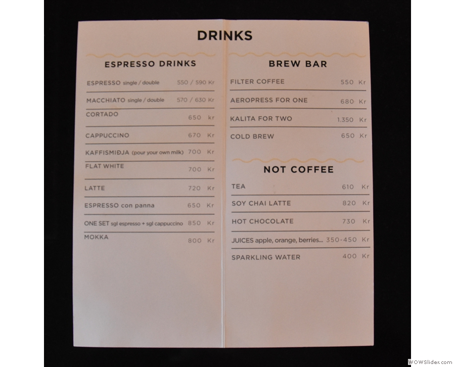 ... read Icelandic, there are handy English versions on the counter, with drinks...