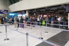 This was not what we wanted to see when arriving at the airport: long, long queues!