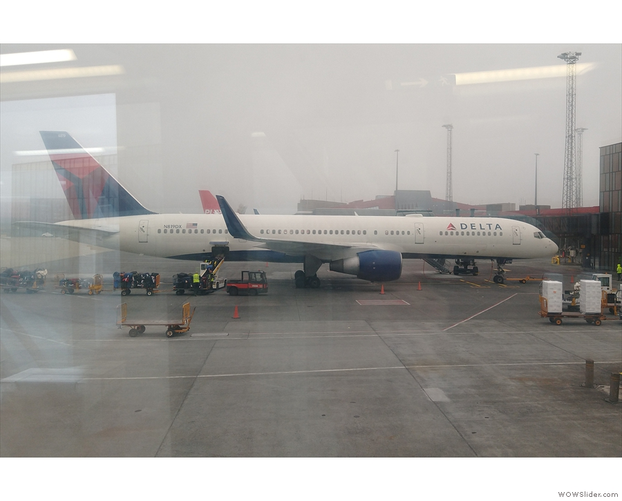I'm pretty sure that's Amanda's flight to Boston...