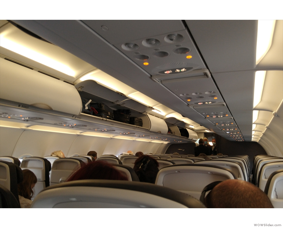 ... this time I was in Club Europe (aka business), albeit at the back of the cabin.