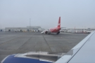 ... then spent the customary five minutes on the tarmac for the safety briefing.