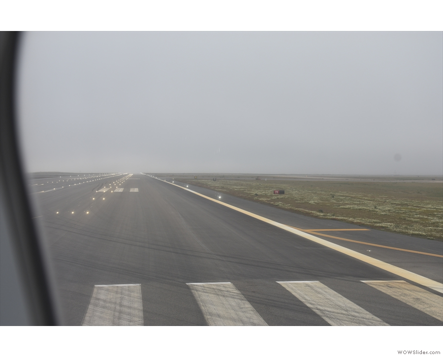 The runway at Keflavik Airport in Iceland.