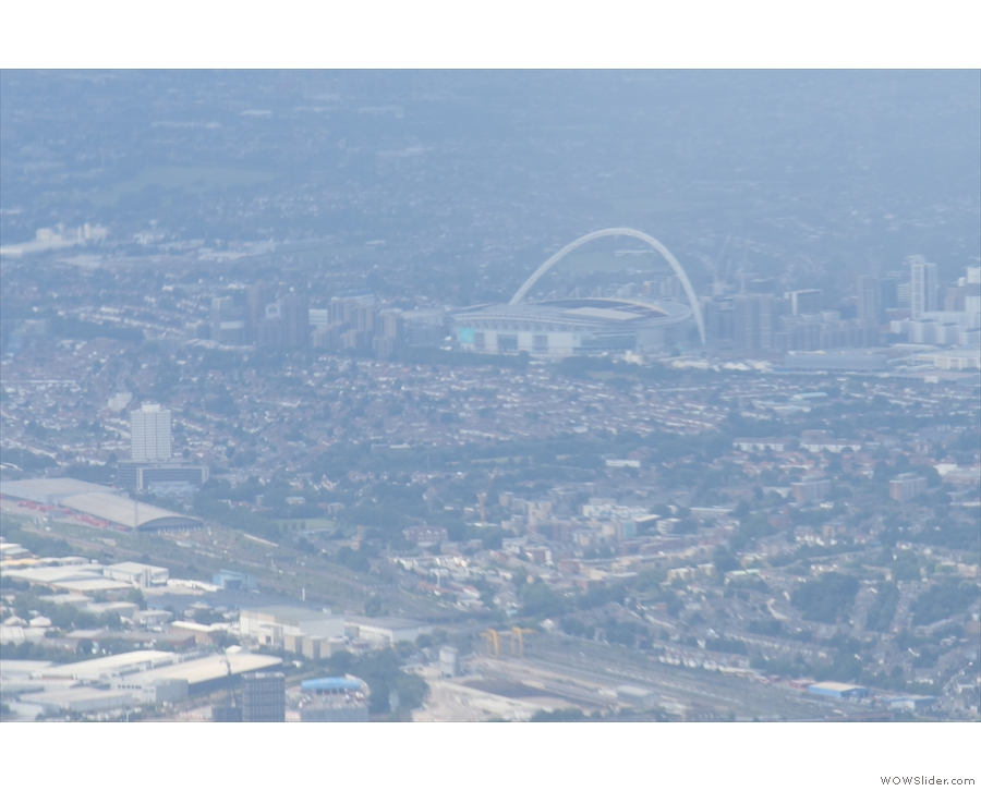 ... you can see Wembley Stadium, which looks much more familiar from this angle.