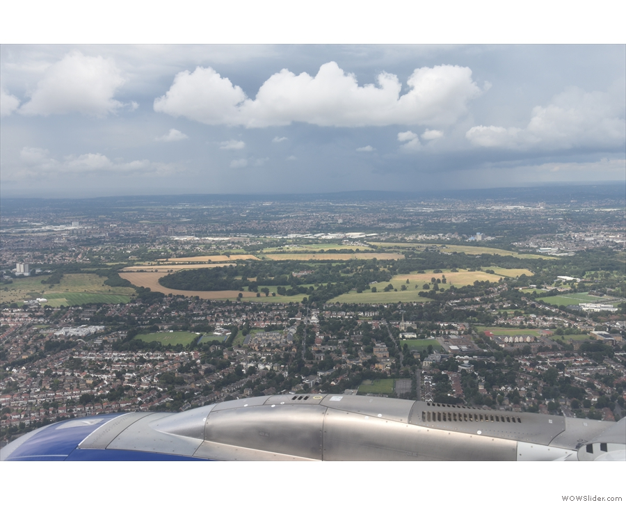 Soon London is thinning out a little. That's Osterley Park in the distance...