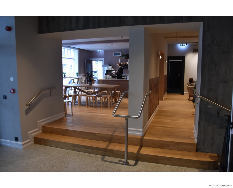 ... or there's a separate entrance which leads directly into the back room.