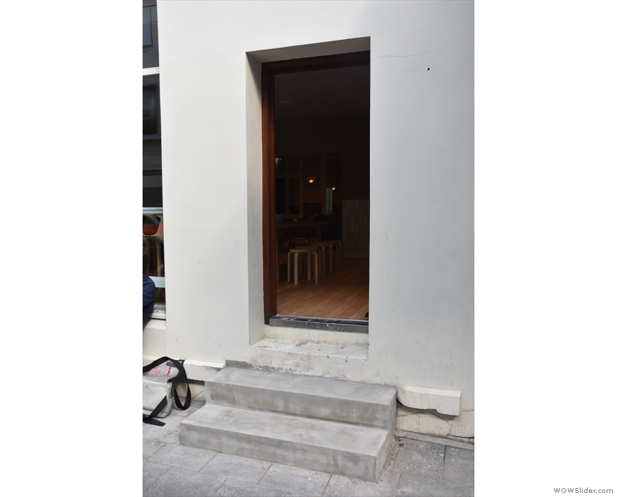 ... was taken last week, the steps to the door on the right have been completed!