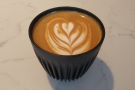 Finally, I will leave you with a flat white to go, which I had in my HuskeeCup...
