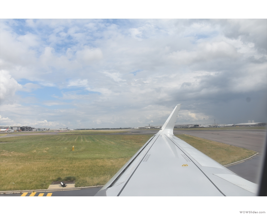 ... then we turn off the runway itself...