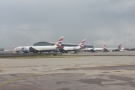 ... and head for Terminal 5, past the massed ranks of British Airways planes.