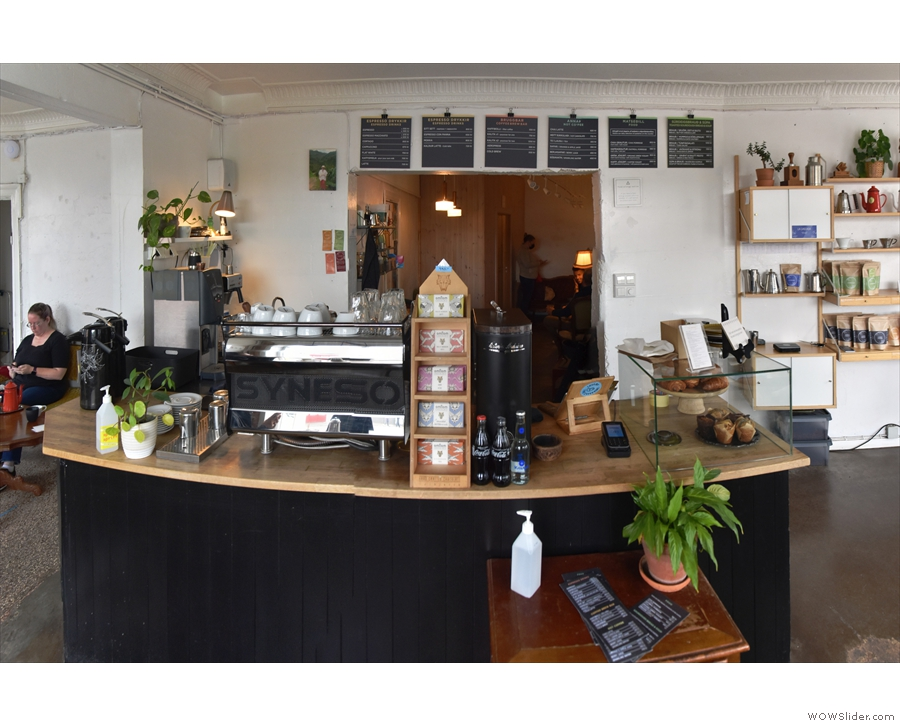 To business. The counter is the focal point of Reykjavik Roasters.