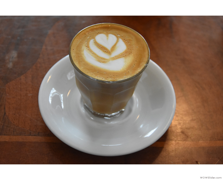 I paired this with a cortado, made with the house espresso, the Mariano.