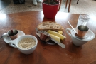 ... a few days later for lunch, planning to have soup, but had porridge (and toast) instead.