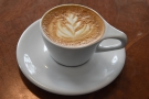 ... which she paired with a flat white, also made with the Mariano. We returned...