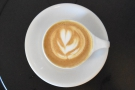 ... a single-origin from Brazil. I'll leave you with a picture of my latte art.