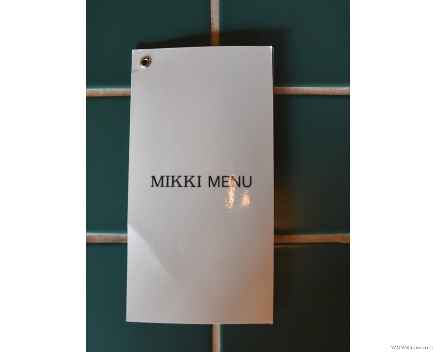 ... with a more detailed printed menu on the counter itself...