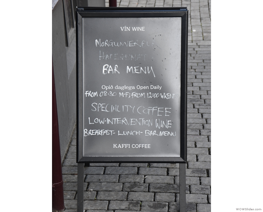 Right, back to ground level and here's an A-board which spells things out...