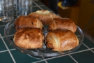 ... which is where you'll also find the pastries (pain au chocolat and croissants).