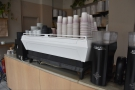 ... since 2018, the Synesso being replaced by this custom-built La Marzocco KB90...
