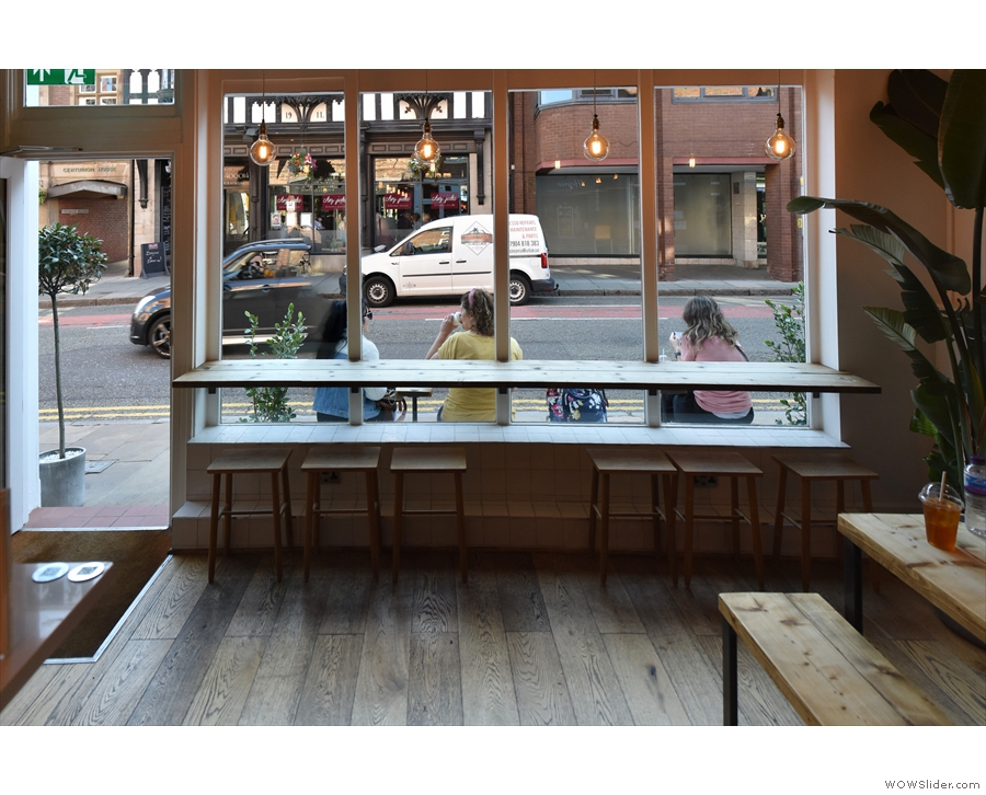 ... and, at the front, a low window-bar with equally low stools.