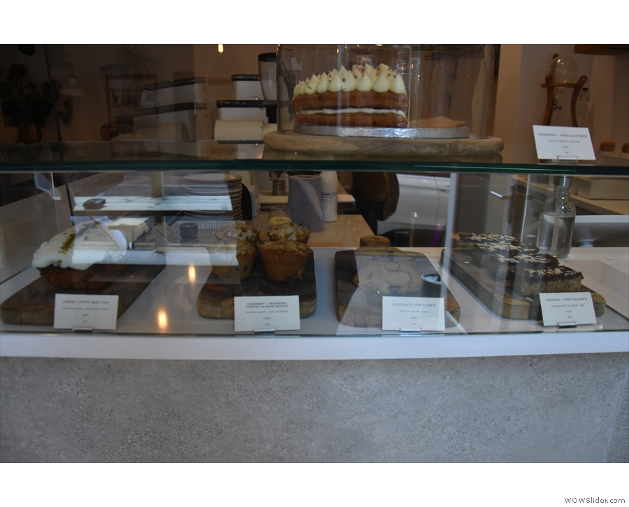 ... and the massed ranks of cakes to your left.