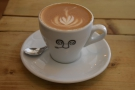 ... so I will leave you with my decaf flat white, which was excellent.