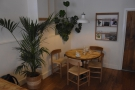 And, right at the back, a four-person table tucked in amongst the plants.