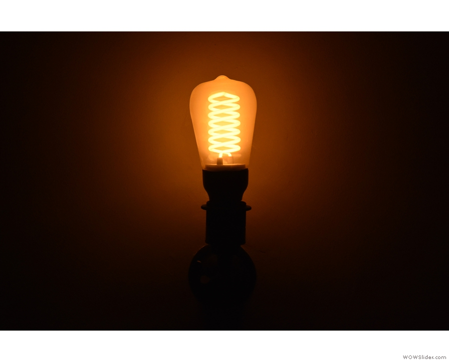 Obligatory light bulb shot (from the basement). With that out of the way...