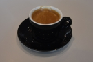 I decided to have the Siena blend as an espresso, served in a classic black cup...