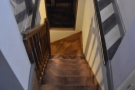 ... where you find this open stairway leading to the basement...