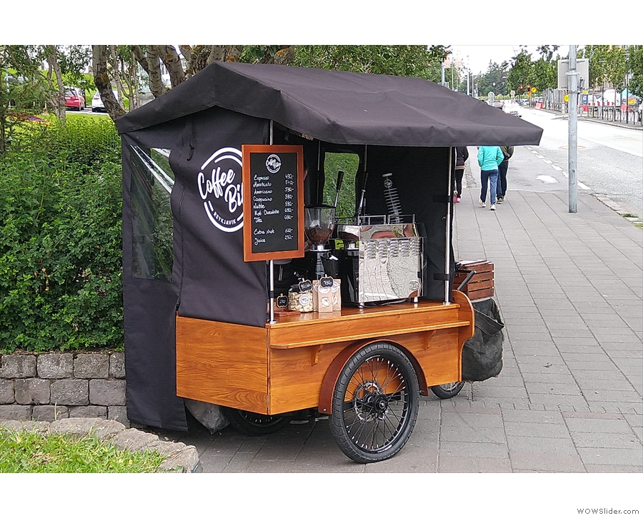 The surprise find of the trip was the Coffee Bike, out on the street in the...