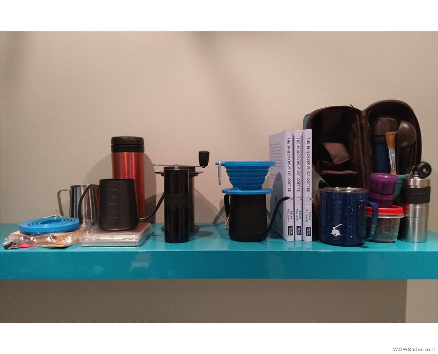We quickly unpacked the important things on arrival at our hotel. As well as the coffee kit...