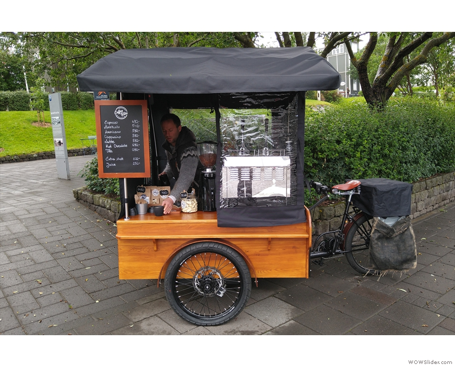 ... Bakarabrekka Park. It's the first place in Iceland just serving coffee to go!