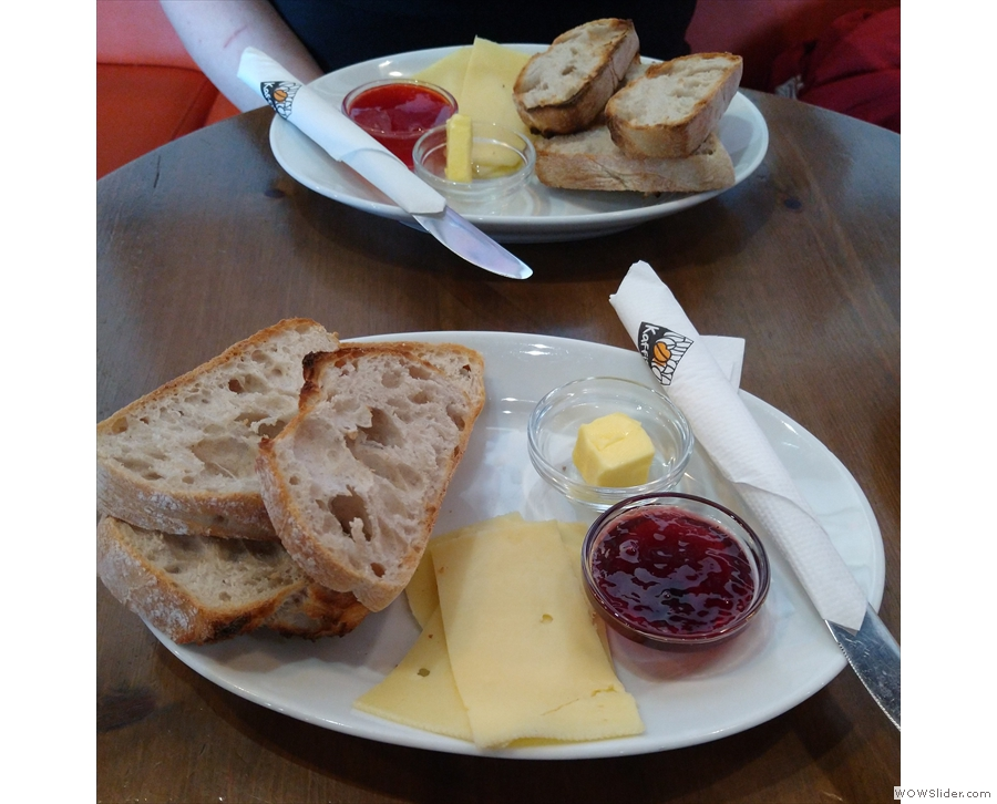... and we both had toast, cheese and jam, an Icelandic staple!